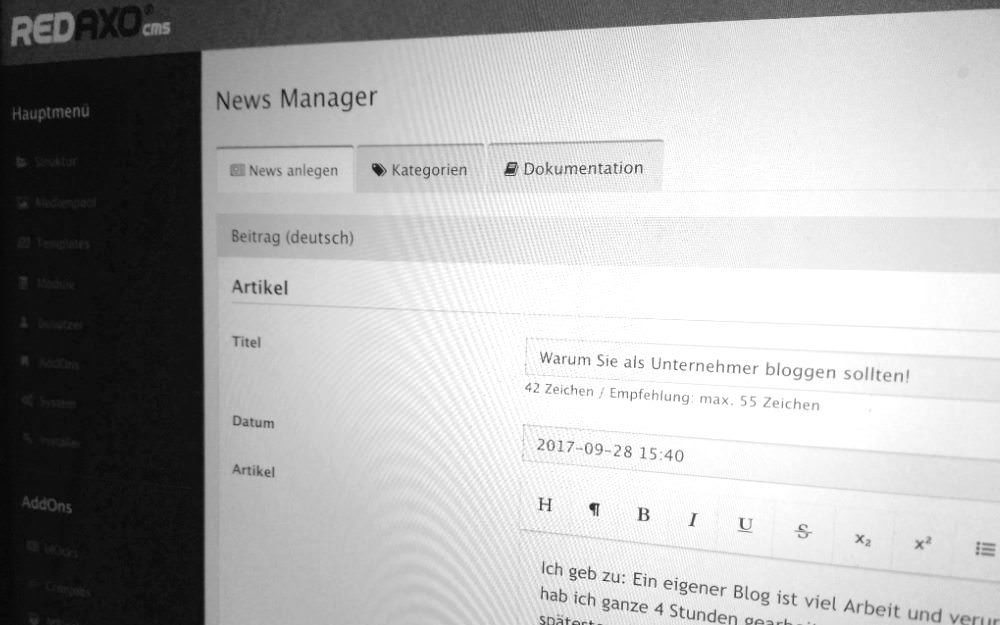 Newsmanager Addon